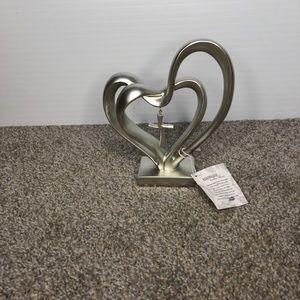Marriage Takes Three Hearts Cross Silver Figurine